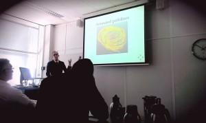 Casper van Leeuwen defending his thesis