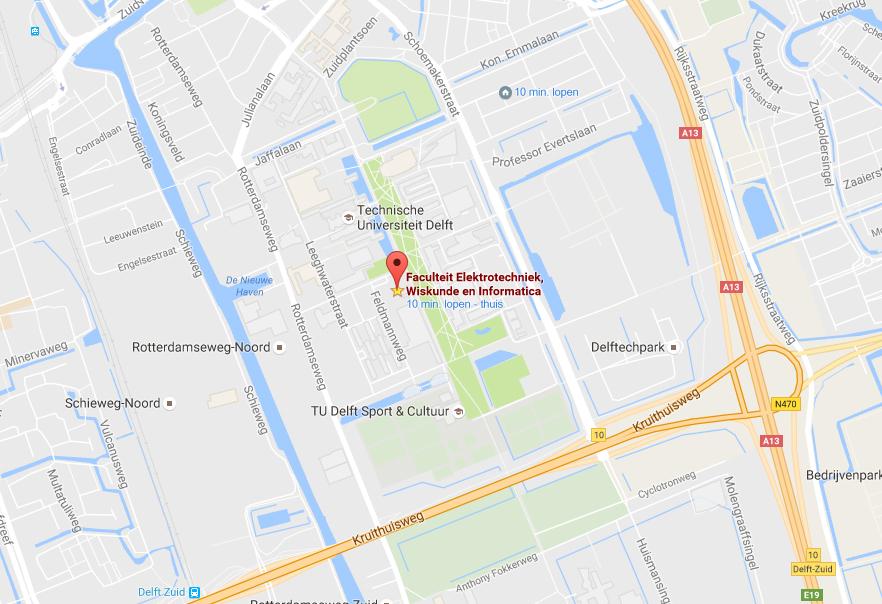 Faculteit Elektrotechniek, Wiskunde en Informatica, Mekelweg 4, 2628 CD Delft